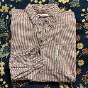 Columbia Plaid Gridded Button Down Men's
